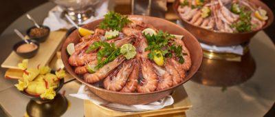 Krevety a langustýny na ledu